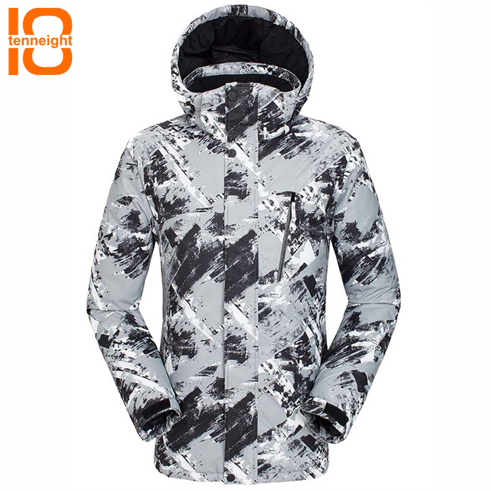TENNEIGHT Men Ski Jackets windproof Waterproof warm Snow Snowboard jacket Outdoor hiking camping Coats Male Skiing Clothes недорого