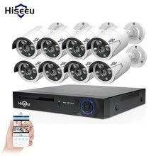 Hiseeu CCTV Sesurity системный комплект для фотокамеры Onvif POE IP камера 8CH POE NVR 2MP открытый водостойкий 48 в 3 т памяти HDD Mobil вид