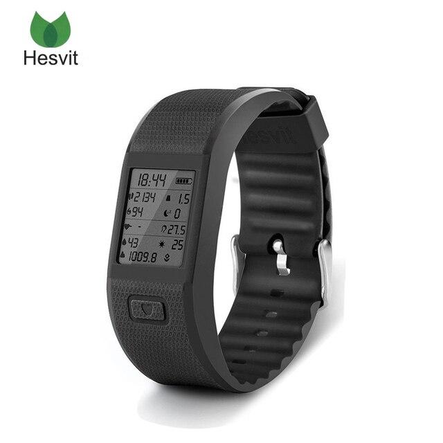 Hesvit S3 4.0 Bluetooth Banda Inteligente Android IOS Temperatura Deporte Pulsera Perseguidor de La Aptitud Del Ritmo Cardíaco de la Muñeca Muñequera Podómetro