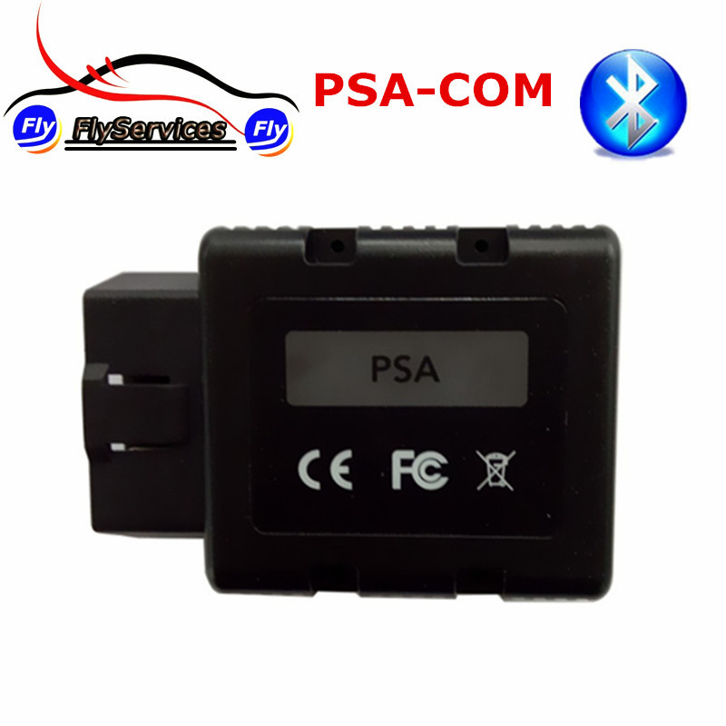 2017 OBD2 Scanner For Citroen For Peugeot PSACOM PSA-COM Bluetooth Diagnostic Tool PSA COM Bluetooth For ECU Programming DTC obdstar f108 psa pin code reading and key programming tool for peugeot citroen ds f108 newly add k line