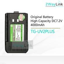 4000 mah li ion bateria quansheng novo TG UV2 mais 10 w walkie talkie 10 km quansheng tg uv2 mais bateria dc 7.2 v