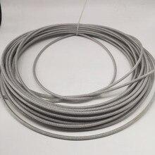 ПВХ) 1,5 мм, 50 м/100 м, 7X7 304 проволочный Канат из нержавеющей стали с ПВХ покрытием мягче рыболовный кабель с покрытием бельевая веревка Тяговый канат