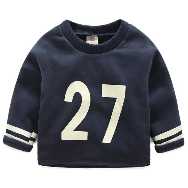 Baby boy sweatshirt 2018 autumn Boys Long Sleeve Tops Baby Boys T shirt kids o-neck tops 2T-10Y