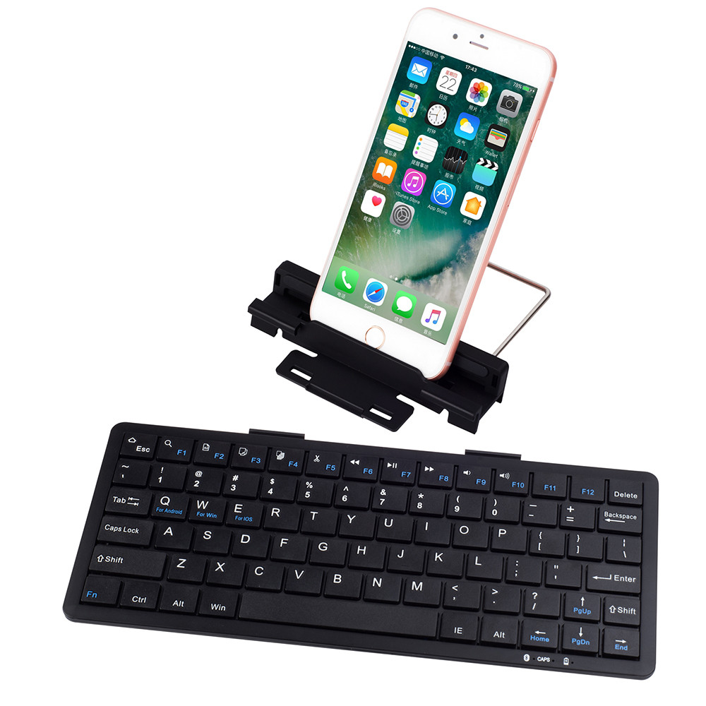 Bluetooth Keyboard For Ipad And Android: Ultra Slim Bluetooth Wireless Keyboard For IPad For IPhone Android Windows Aug28-in Battery