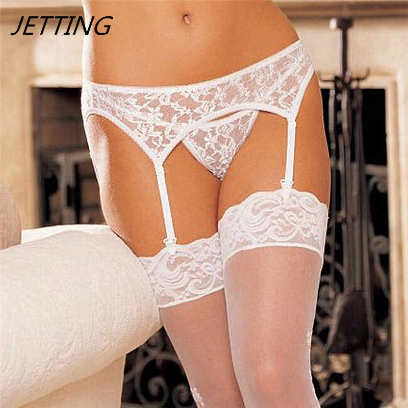 2017 Black/ White Floral Lace Sexy Garter Belt Lace Garters suspenders for women garter goth wedding stocking belt