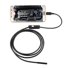 ФОТО 720P HD 7mm lens Inspection Pipe 1m Endoscope Waterproof Mini USB Camera Snake Tube with 6 LEDs Borescope  Android Phone PC