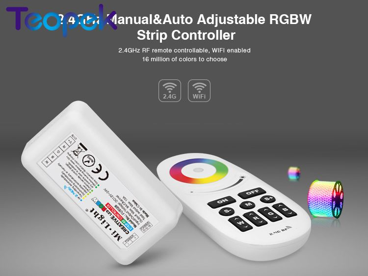 Mi.light <font><b>FUT028</b></font> 2.4G RGBW controller DC12/24V Wireless touch panel color RF RGBW led Controller for RGBW led strip image