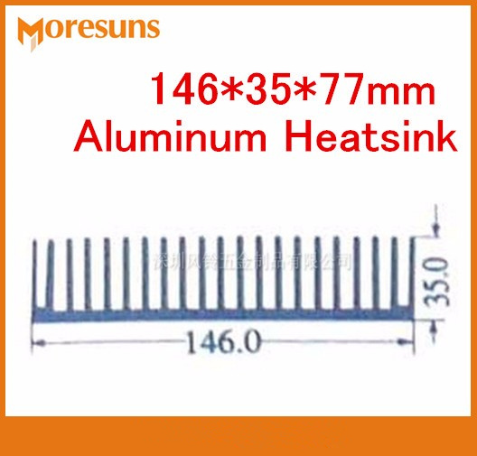 Fast Free Ship High Power pure aluminum heat sink 146*35*77mm aluminum alloy industrial electric switch power supply radiator aluminum alloy flower power shaped cake pan