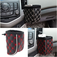 1PC Car Air Vent Mobile Phone Mesh Holder Pocket Debris Storage Organizer Pouch Bag#T518#