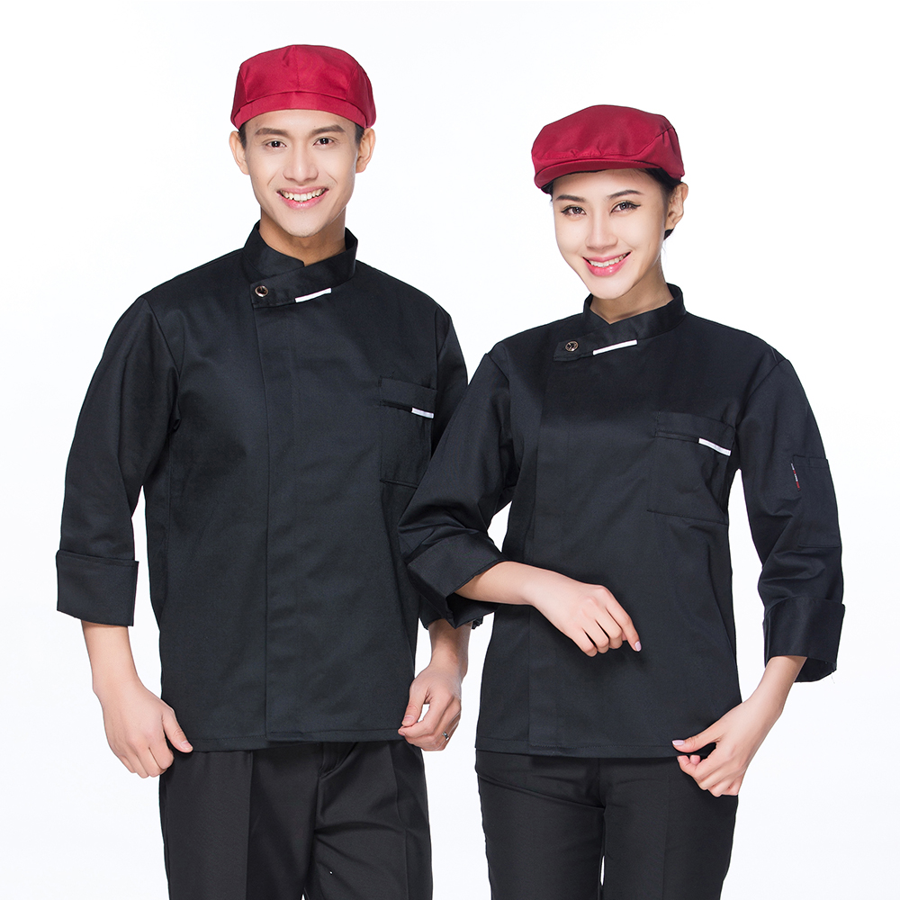 High Quality Long-sleeved Chef Jacket Coat Uniform Catering Restaurant Hotel Work Wear Overalls Kitchen Food Service Home Suits