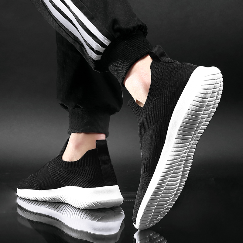 Summer Sock Shoes Mens Lightweight Slip on Casual Shoes Male Breathable Comfortable Footwear Sneakers 2019 New Fashion Shoes in Men 39 s Casual Shoes from Shoes