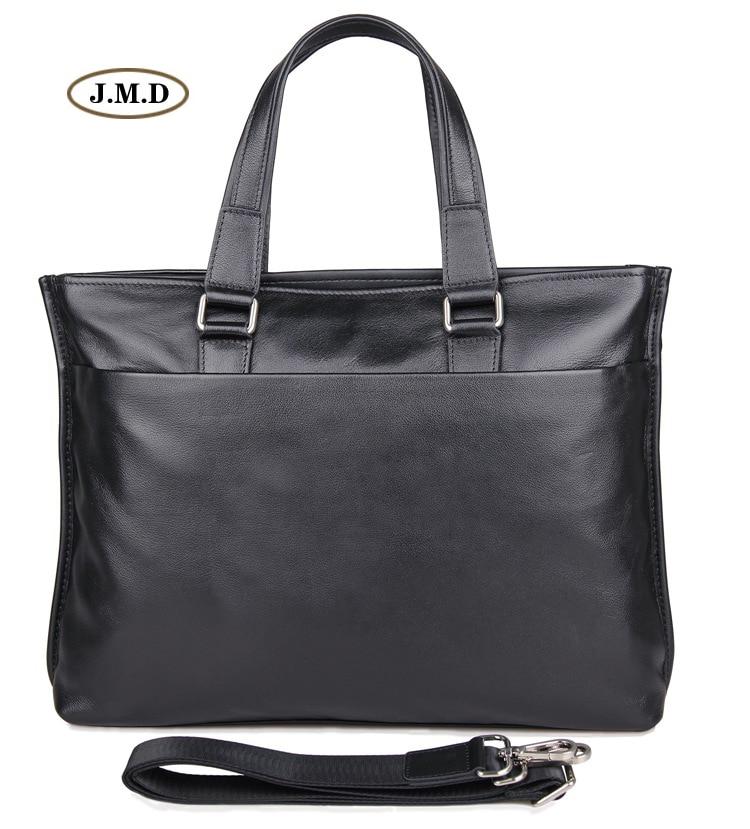 Famous Brand Genuine Leather Simple Design Male Fashion Briefcase Laptop Bag Shoulder Bag Crossbody Bag Handbag 7328A