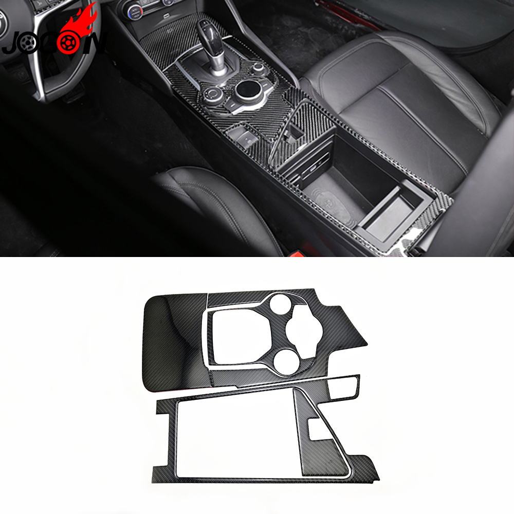 Lhd Epoxy Carbon Fiber For Alfa Romeo Giulia 952 2017 2018 Car Interior Styling Gear Shifter Panel Armrest Box Frame Cover Trim In Mouldings From