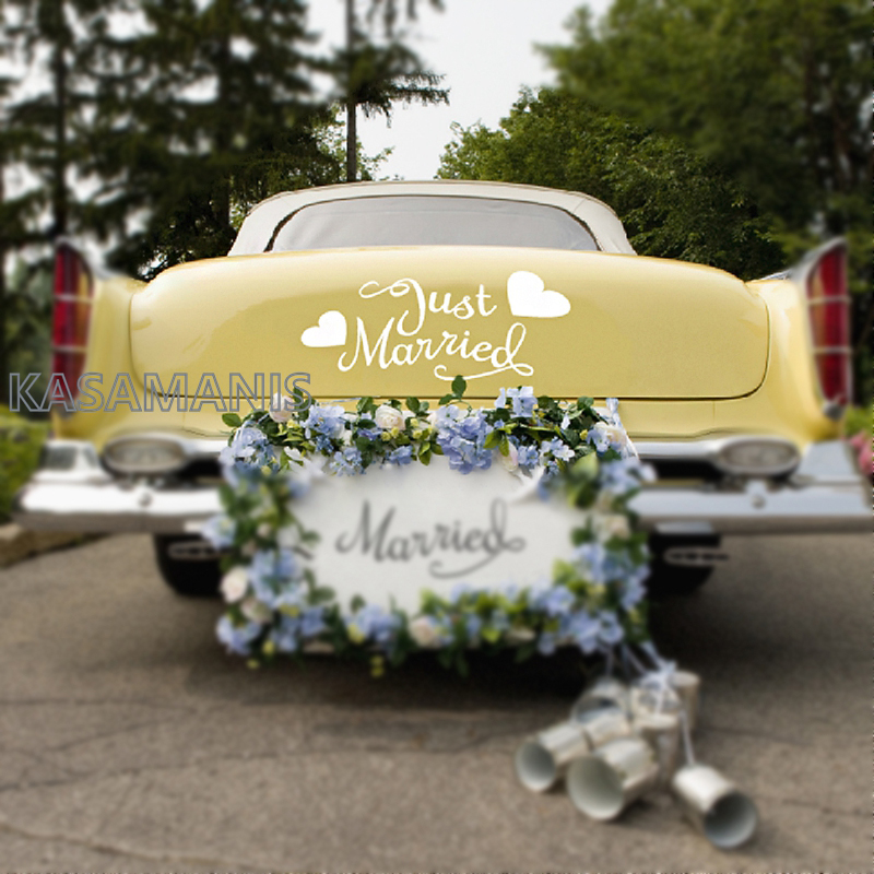 Wedding car decal