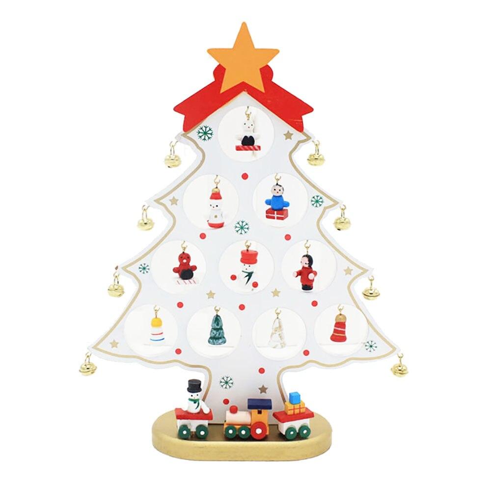 25,5 * 20 * 0,8 cm: n DIY söpö sarjakuvapuinen joulukuusi-koriste - Uudet kohteet ja gag-leluja - Valokuva 2