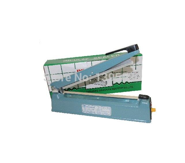Table Top Impulse Bag Sealer 250mm Sealing Length Sealer Machine Heat hand Impulse Sealer zw ks 100 impulse sealer blue