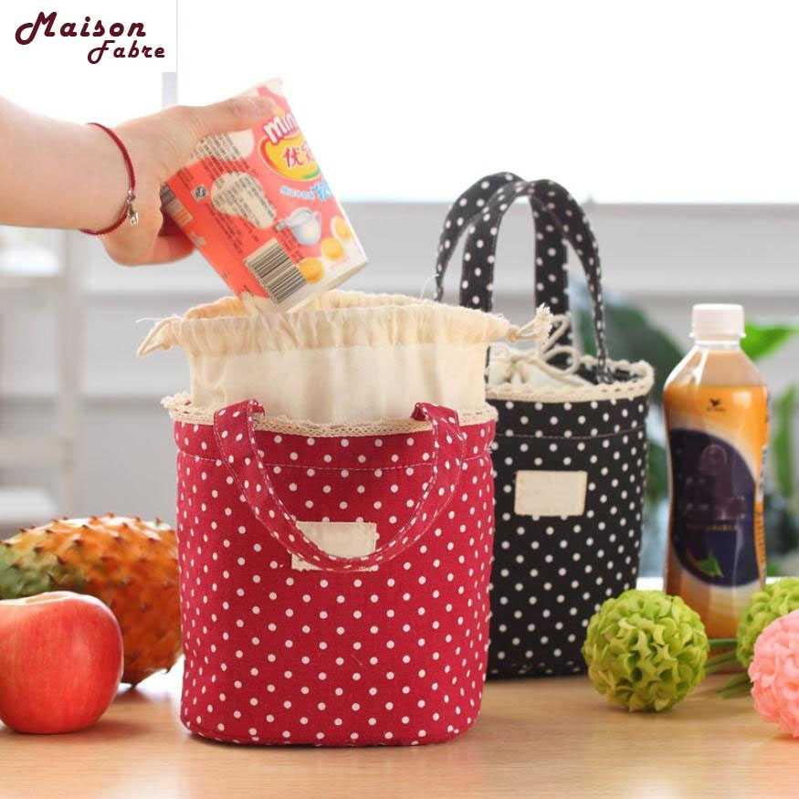 Mulheres bolsa Saco Bolsa Termica Llunch Bento Almoço Bolsa Térmica Duplas Lunch Box Cooler Bag Tote Drop Shipping Container