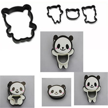 Cute Little Panda Bear Bread Cutter Set