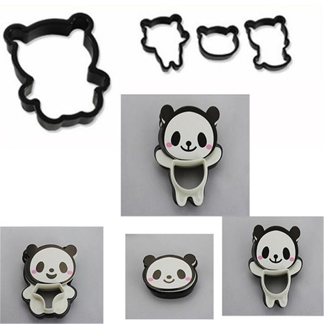 Cute Little Panda Bear Bread Cutter Set