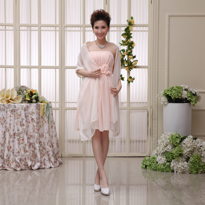 Popular evening chiffon jackets and wraps buy cheap for Cocktail dress with jacket for wedding