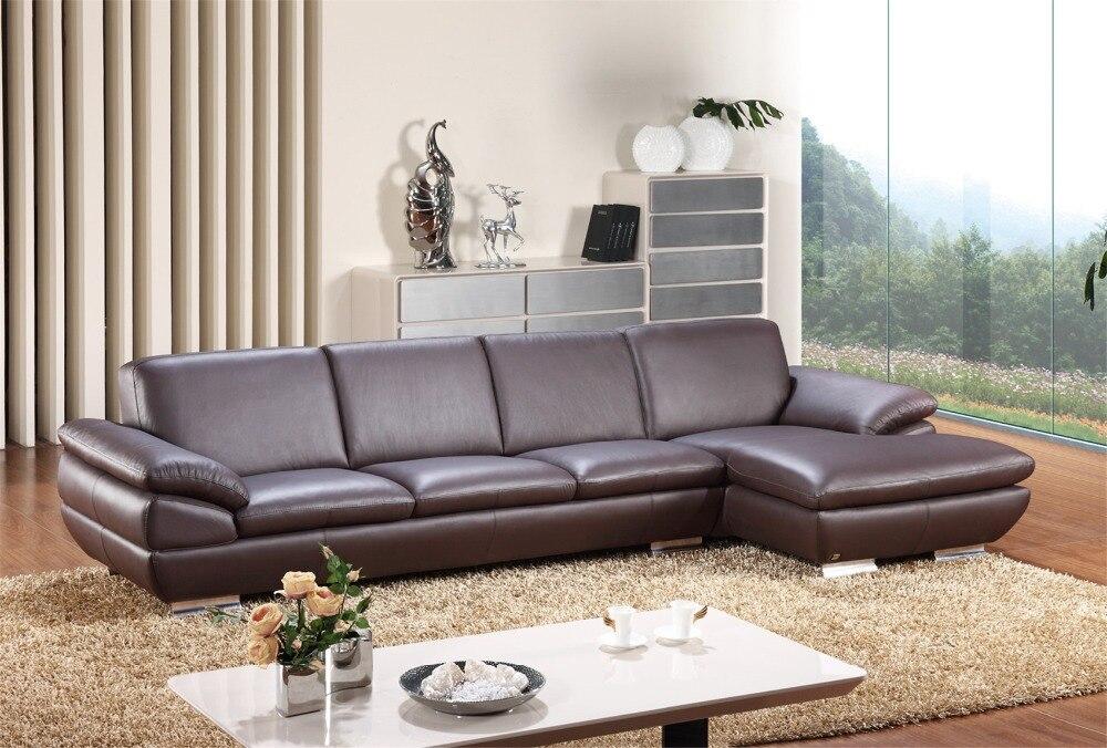 Sofas For Living Room Modern Sofa Set With Leather Corner L Shape Genuine