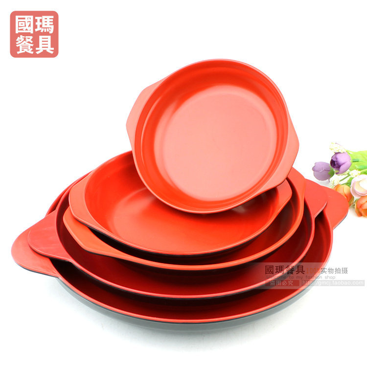 8 INCH Japanese Style Melamine Tableware Black Red Christmas Plastic Fruit Sushi Dishes Binaural Cake Plates Soups Containers-in Disposable Plates from Home ...  sc 1 st  AliExpress.com & 8 INCH Japanese Style Melamine Tableware Black Red Christmas Plastic ...
