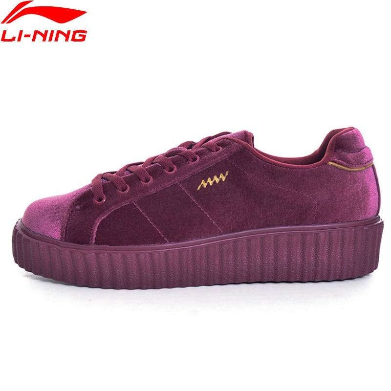 Li-Ning Women Noiz Court Lifestyle Shoes Fitness Street Style Sneakers Soft Comfort LiNing Li Ning Sport Shoes GLKM106 YXB093