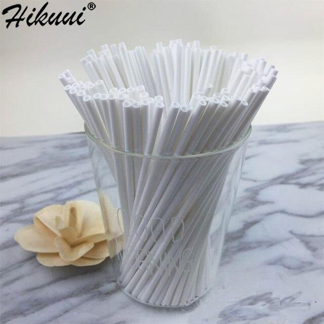 Lollipop Palo de plástico seguro para pastel, 100 Uds., ventosa para palos con Chocolate, azúcar, caramelo, herramienta de molde DIY, 10/15/20cm