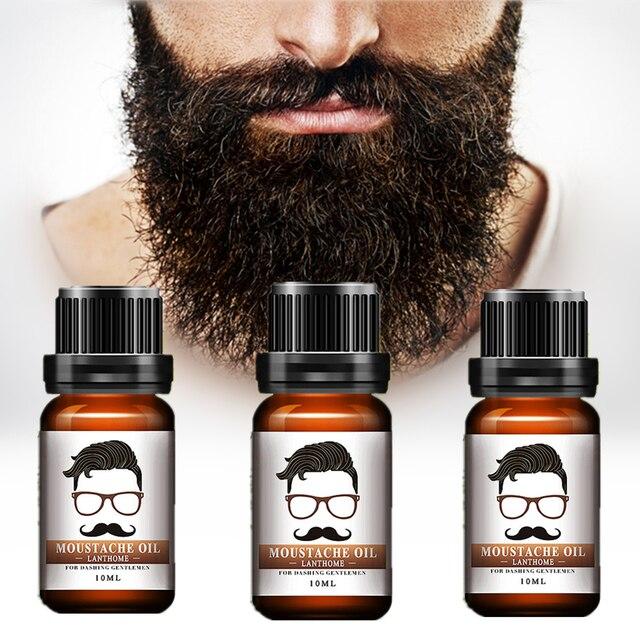 Original Men Beard Growth oil 10ml beards hair Thicker Essence Mustache Thick sideburn Treatment Sunburst alopecia Serum For Men
