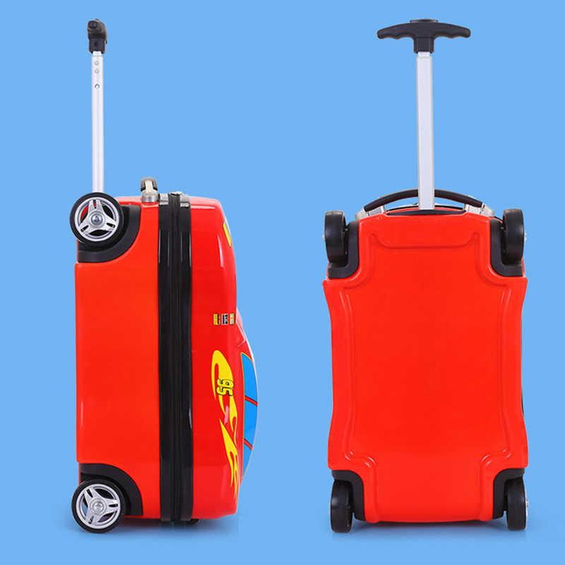 Kinderen Koffer Kind Trolley Bagage Tas Kinderen Schooltassen Reizen Koffer Wielen 3D Supercar Travel Case Speelgoed Voor Soorten