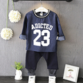 Children wear long sleeved T-shirt boys casual denim Korean kids clothes suit 2017 new spring O B706