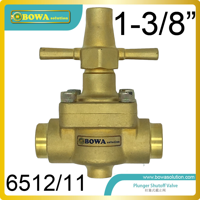 1-3/8 Global shutoff Valve handle with special designed, can be shut-off without using any tools in HVAC/R eqiupments 7 8 global valve can be used in commercial refrigeration system civil and industrial air conditioning equipments