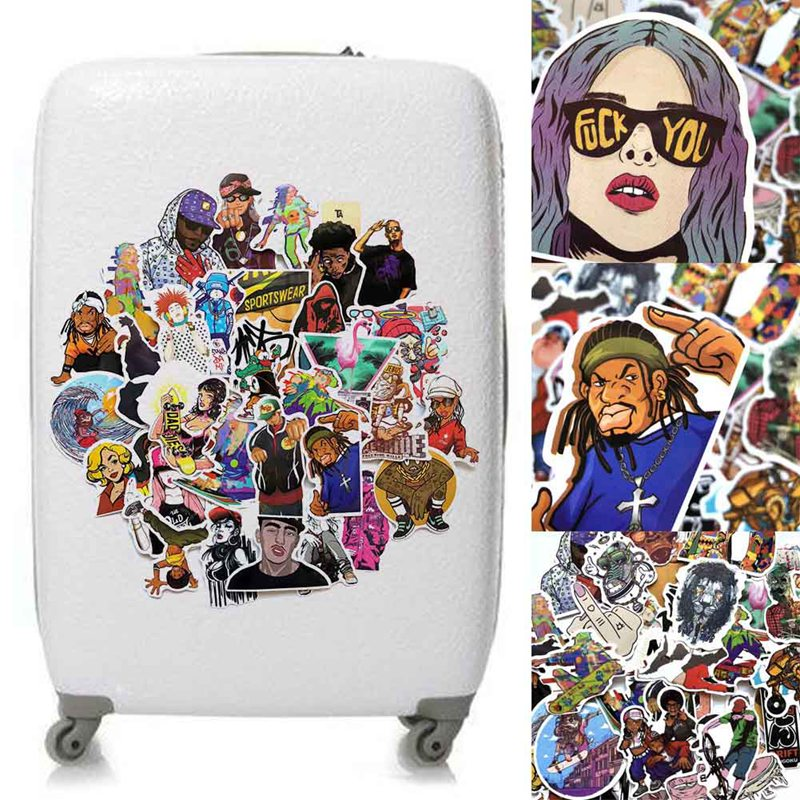 Office & School Supplies Intellective 48pcs/set Hip-hop Style Graffiti Stickers Rock Style For Laptop Luggage Phone Skateboard Toy Pvc Waterproof Stationery Sticker With A Long Standing Reputation