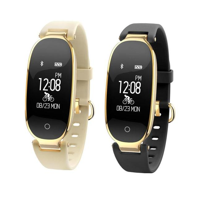 9ce4a1267 S3 Bluetooth Waterproof Smart Watch Fashion Women Ladies Heart Rate Monitor Fitness  Tracker Smartwatch for Android IOS