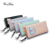 Ladies Cute Cat Wallet Purse Designer Famous Brand Wallets For Women Girls High Quality Femme Money