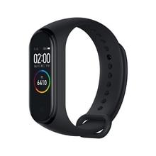 Stokta Orijinal Xiao mi mi bant 4 Akıllı mi Band 3 renkli ekran akıllı Bilezik Kalp hızı Spor Müzik Bluetooth 50M Su Geçirmez Band4