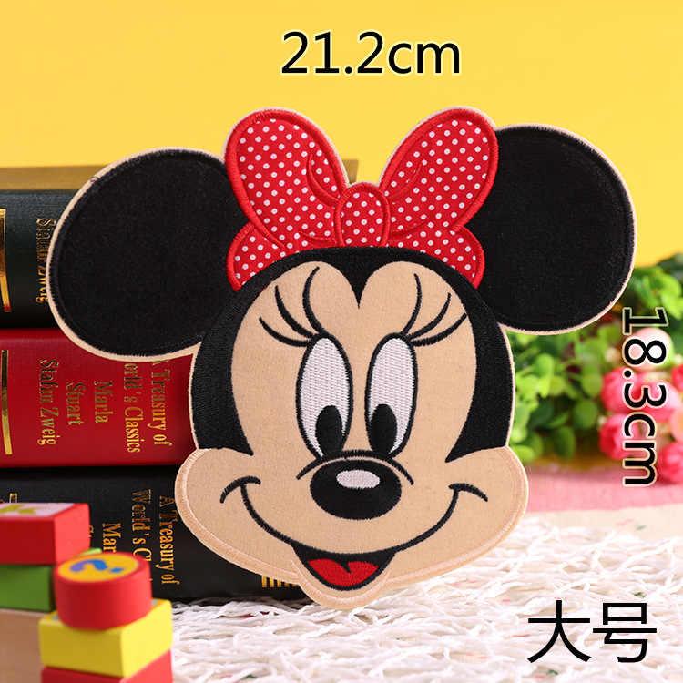 Top vendendo 1 Pcs Minnie Mickey Bordado Patch de Ferro em Applique Remendo Roupas de Vestuário Sacos DIY reparação Adesivos Emblemas Patches