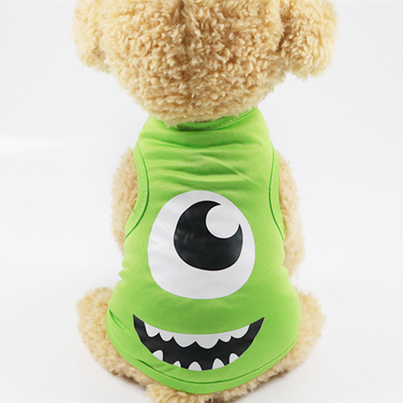 Cute Cat Dog Tshirt  Soft Puppy Dogs Clothes Cute Pet Dog Clothes Cartoon Pet Clothing Summer Shirt Casual Vests For Small Pets