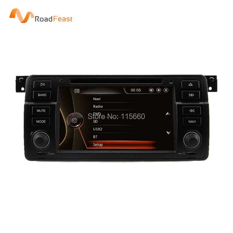 Original UI 7 Inch Car DVD For BMW E46 Canbus Capacitive Screen Radio GPS Navigation Bluetooth 1080P 3G USB Ipod Map