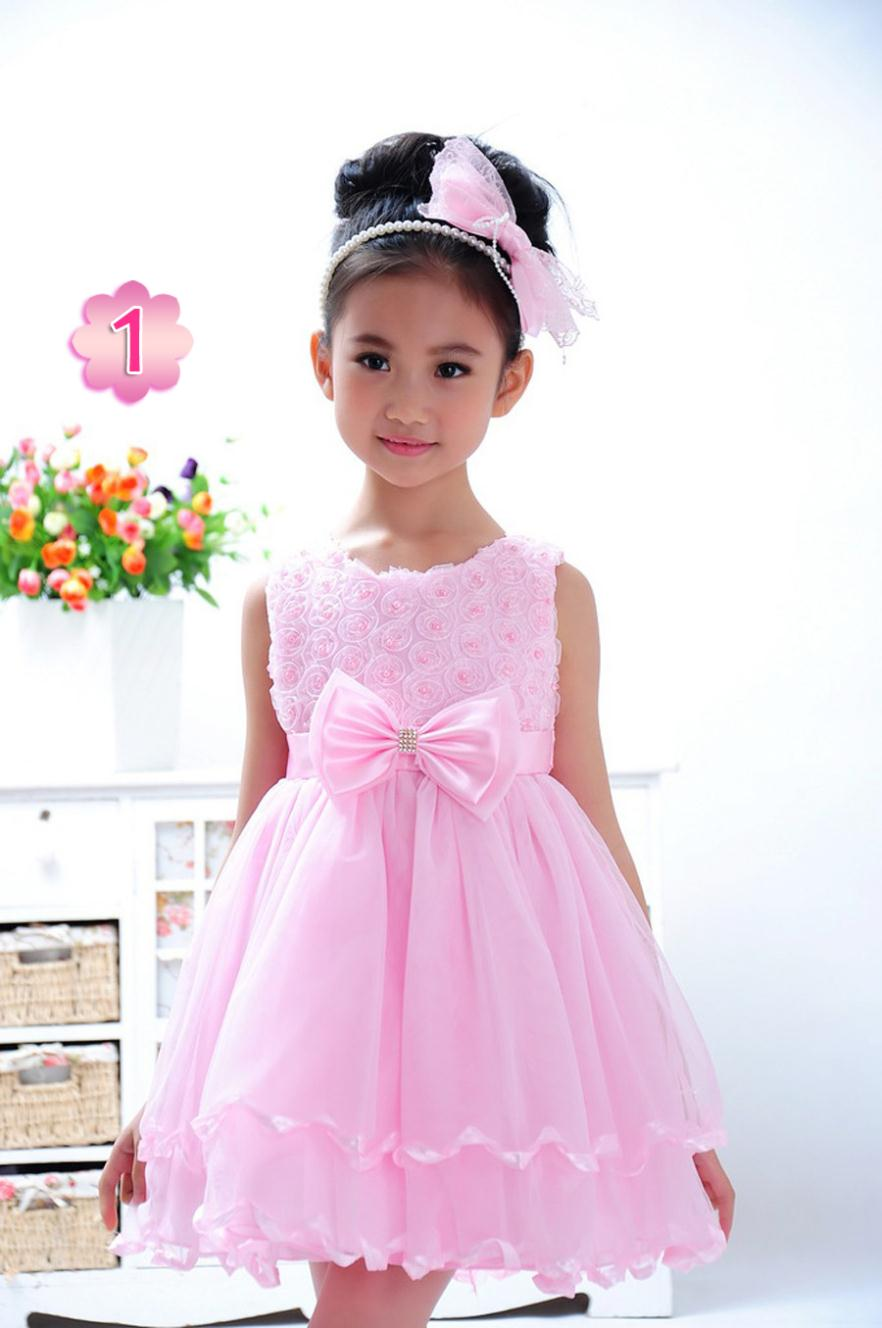 0757338ef 2016 summer multi colored princess dress Elegant girls party dress ...