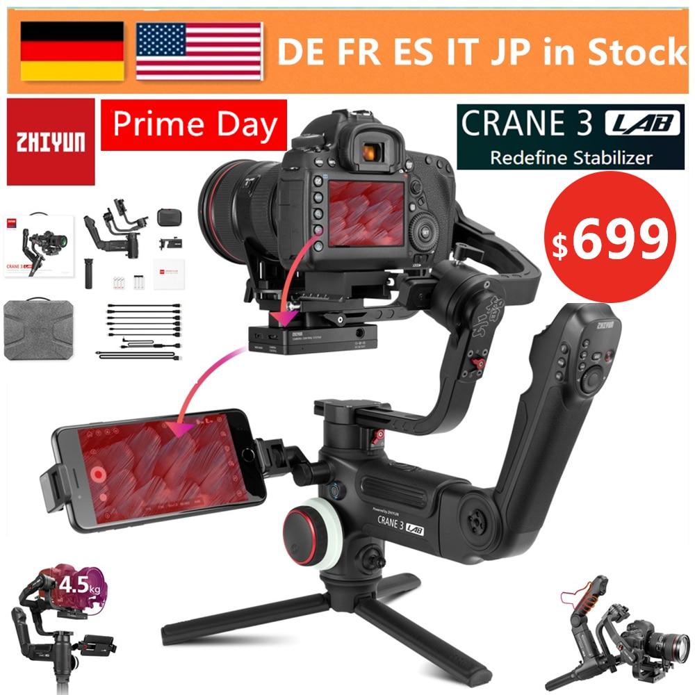 ZHIYUN Guindaste 3 LABORATÓRIO 3-Eixo Estabilizador de Câmera para Sony A7M3 A7R3 FHD Transmissão de Imagem Sem Fio, canon 6D 1DX II, Nikon D850 DSLR