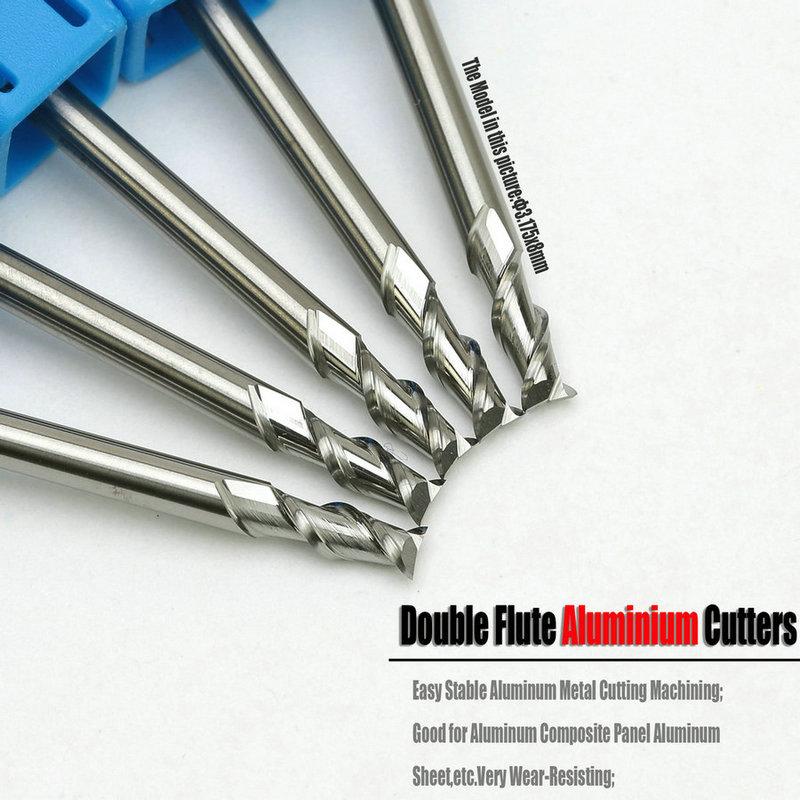 5PCS 8mm HRC55 3 flute Tungsten Carbide End Mill milling cutter CNC for aluminum