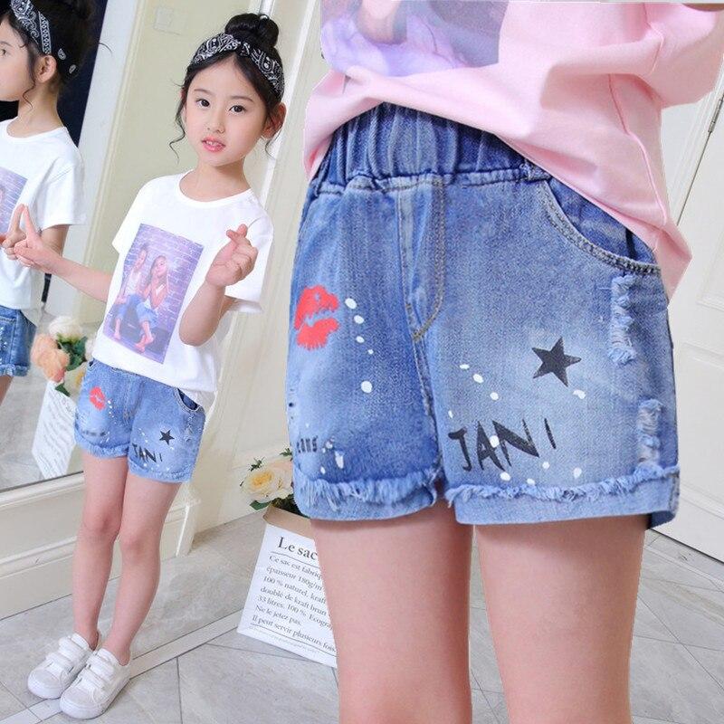 Baby Kids Shorts Children Summer Denim Short Pants For Baby Girl Elastic  Waist Cartoon Print Casual Fashion Short Trousers XL143| | - AliExpress