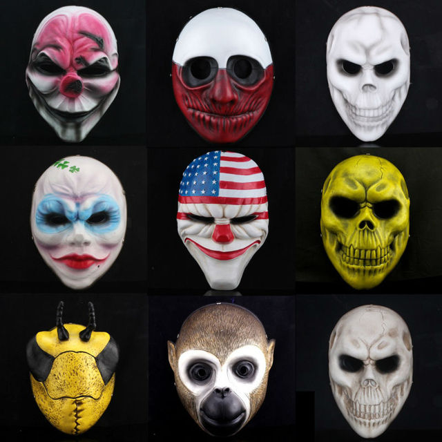 Halloween Masks Round Face Terror Latex Mask For Party Costume Funny