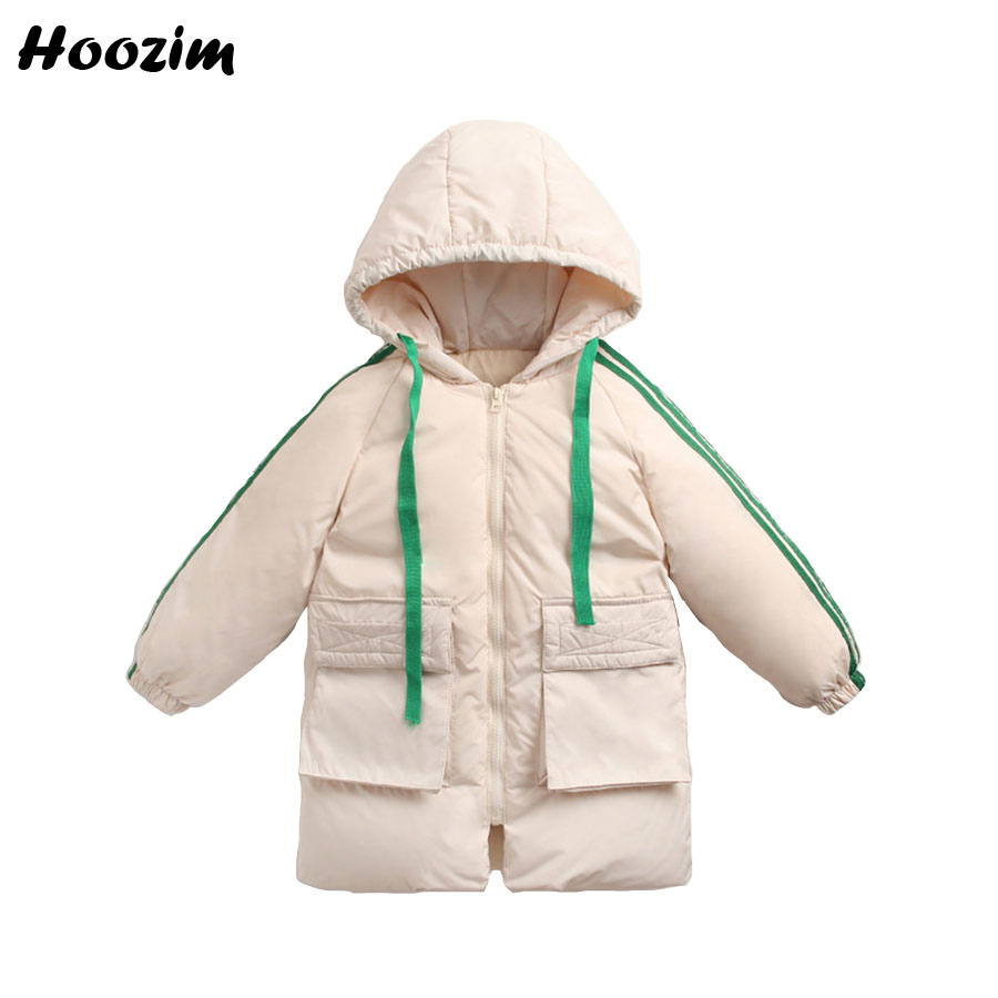 Winter White Duck Down Jacket For Girls 7 8 9 Years Fashion Kids Outerwear Yellow Thick Long Coat Children Autumn Boys Clothing 2018 children down jacket girls winter long section kids clothing thick coat 30 degree warm outerwear for 7 9 10 11 13 years