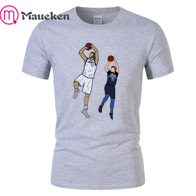 334e6adea Detail Feedback Questions about NEW Dirk Nowitzki and Luka Doncic Shot  fashion 100% cotton funny t shirt for dallas fans gift t shirts 001 on  Aliexpress.com ...