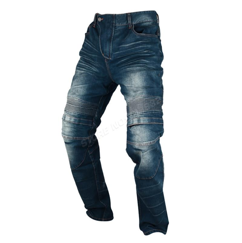 DUHAN Windproof Motorcycle Racing Jeans Casual Pants Men's Motorbike Motocross Off-Road Knee Protective Moto Jeans Trousers