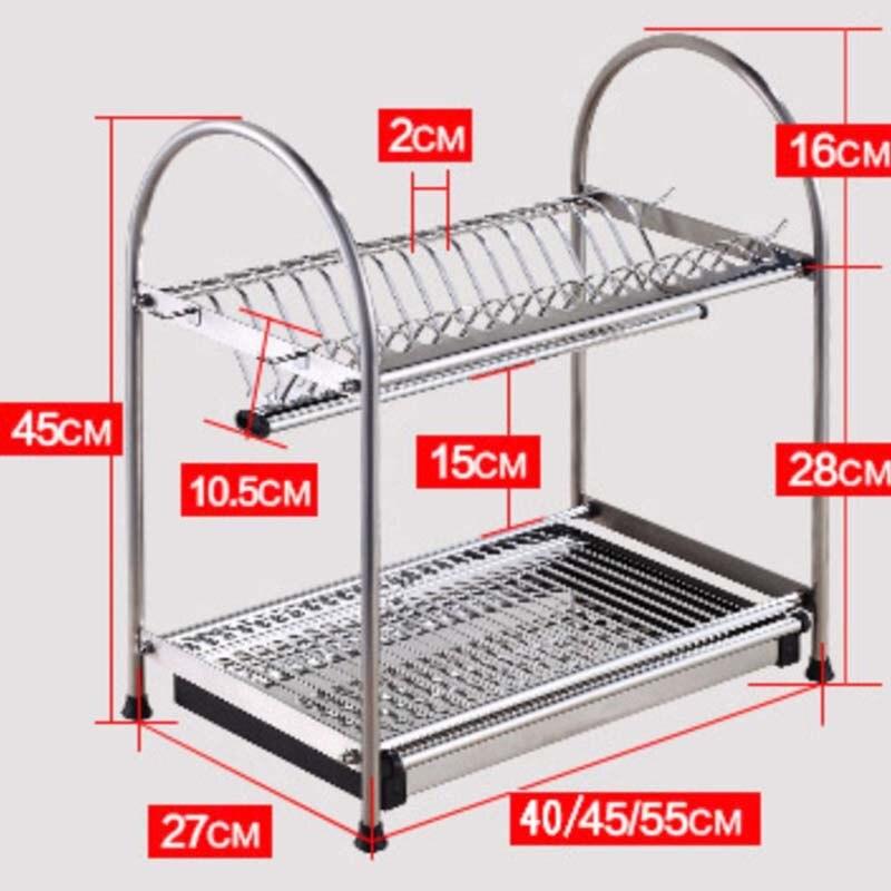 Roestvrij Staal Afdruiprek SUS 304 Afdruiprek, Droogrek, Bestek Houder, Gebruiksvoorwerp Tool Houder, keuken plank NW 3KG meer - 4