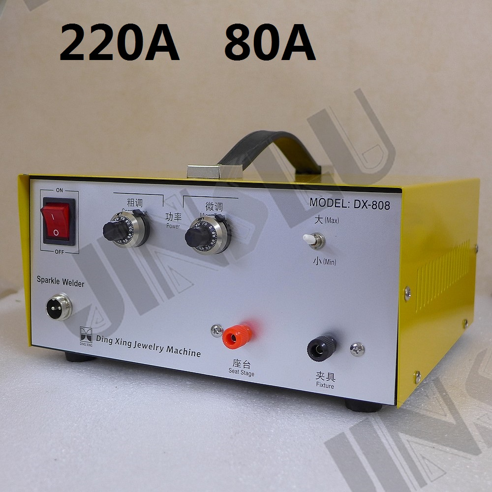 220V 80A Mini Spot Welder Laser Spot Welding Machine Jewelry Tool DX-808 welding machine parts цены