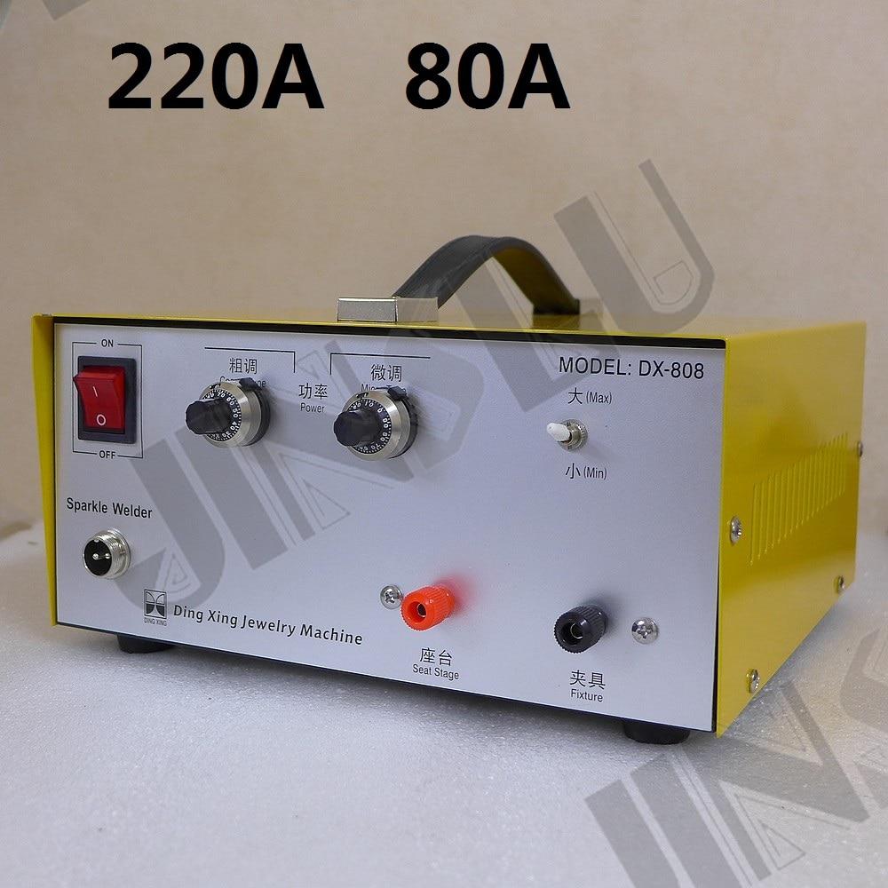 220V 80A Mini Spot Welder Laser Spot Welding Machine Jewelry Tool DX-808 welding machine parts